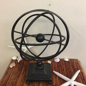 Rustic LARGE METAL Collapsible Sphere Decor